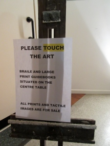 Please touch poster